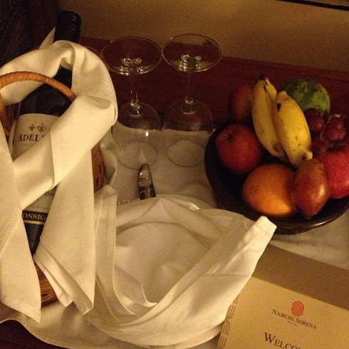 welcome basket serena nairobi hotel