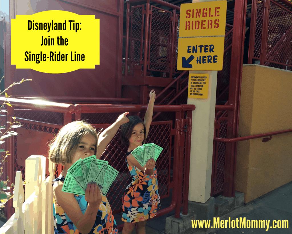 Disneyland Tips Single-Rider Lines
