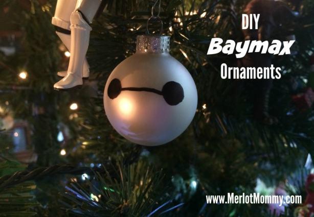 DIY Baymax Ornaments #BigHero6 #BaLaLaLaLa #MeetBaymax