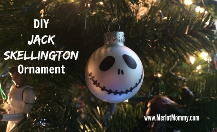 DIY Jack Skellington Ornaments #JackSkellington