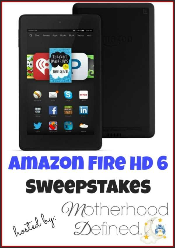 """Enter to win an Amazon Fire HD 6"""" #Giveaway ends 4/26"""