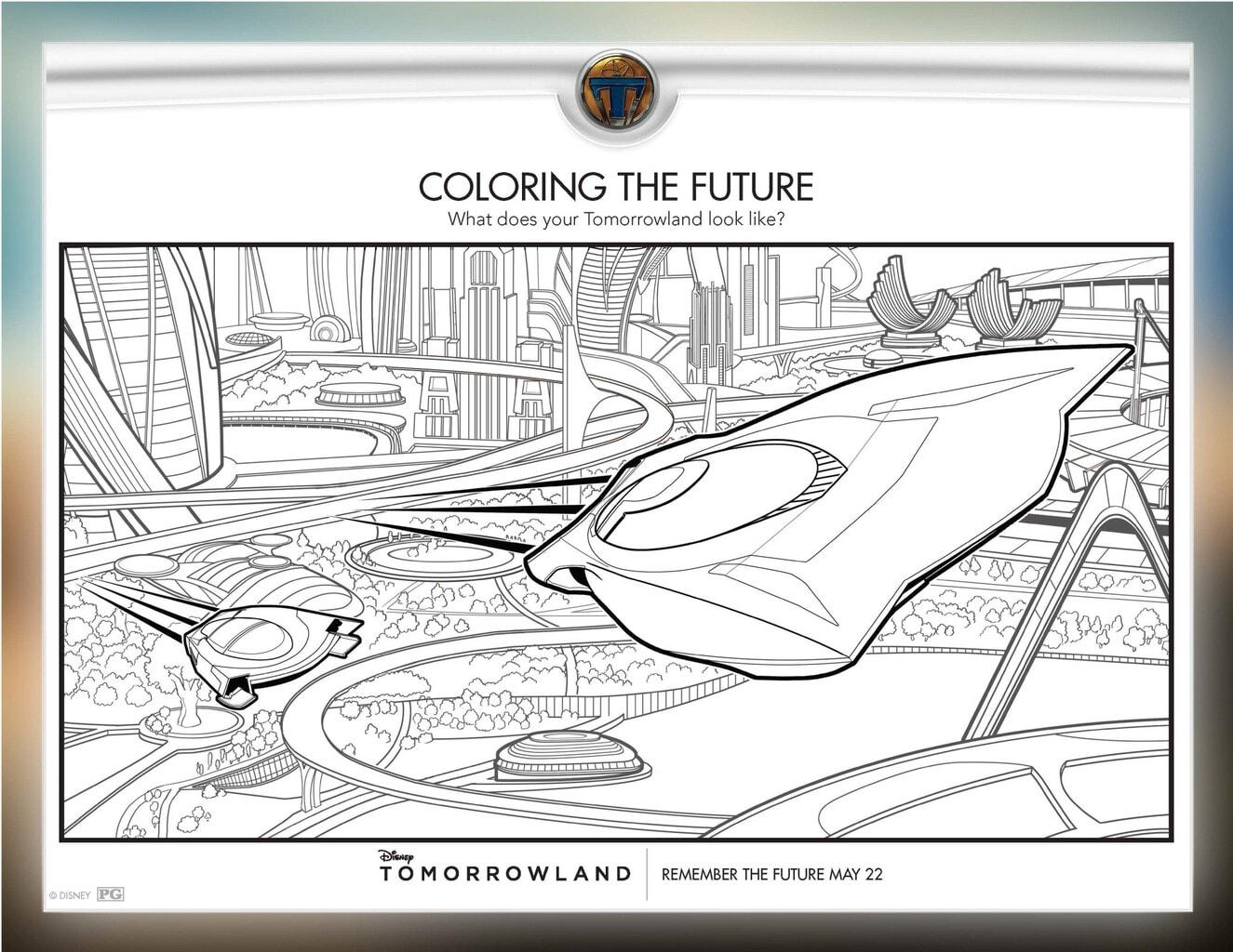free activity and coloring sheets disney u0027s tomorrowland