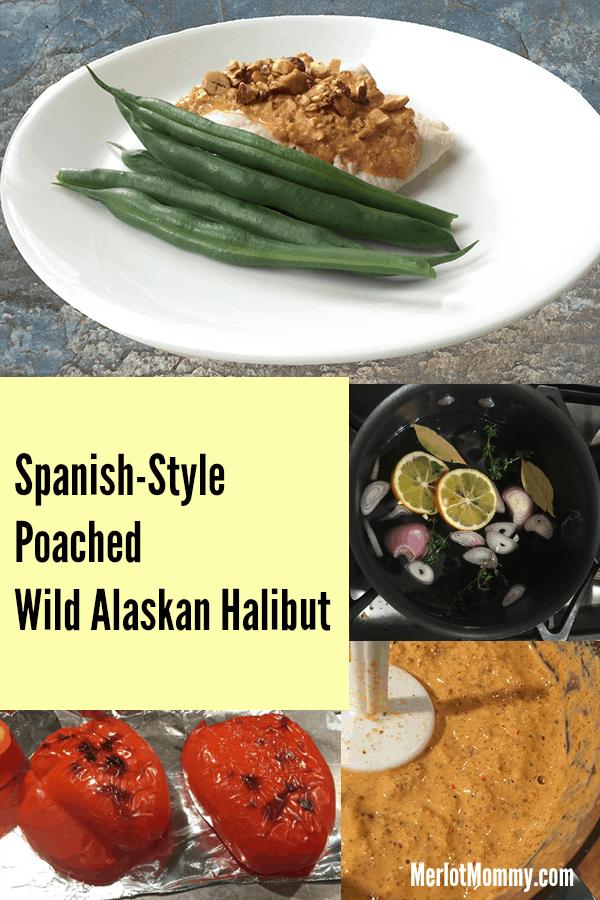 Spanish-Style Poached  Wild Alaskan Halibut