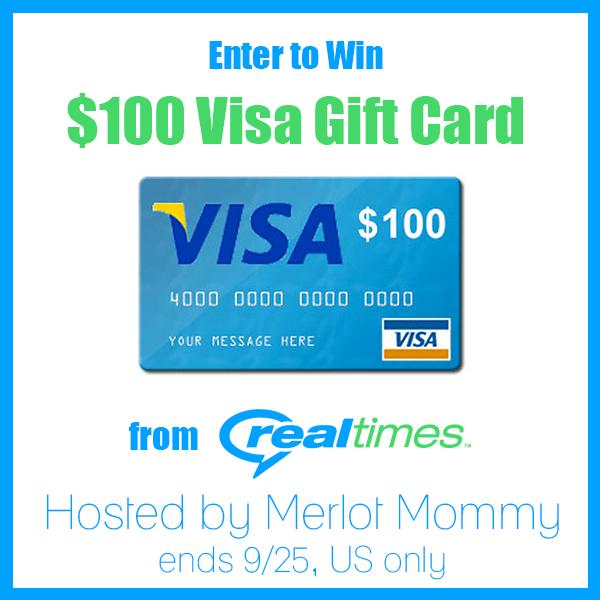 RealTimes End of Summer $100 Visa Gift Card #giveaway ends 9/25
