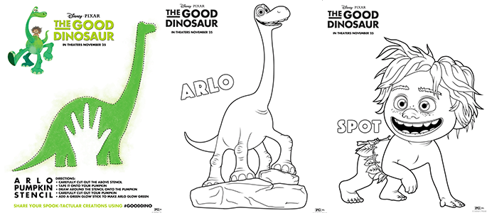 Coloring Books For Adults Dinosaurs : Disney pixars the good dinosaur pumpkin stencil and coloring