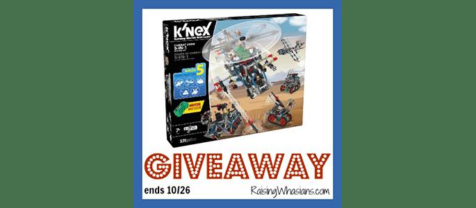 Enter to Win a K'NEX Combat Crew Building Set #Giveaway ends 10/26