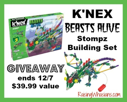 K'NEX Stompz Building Set #Giveaway ends 12/7