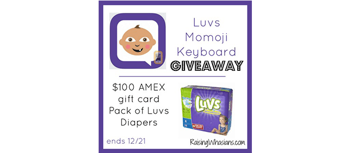 Luvs + $100 AMEX #Giveaway ends 12/21