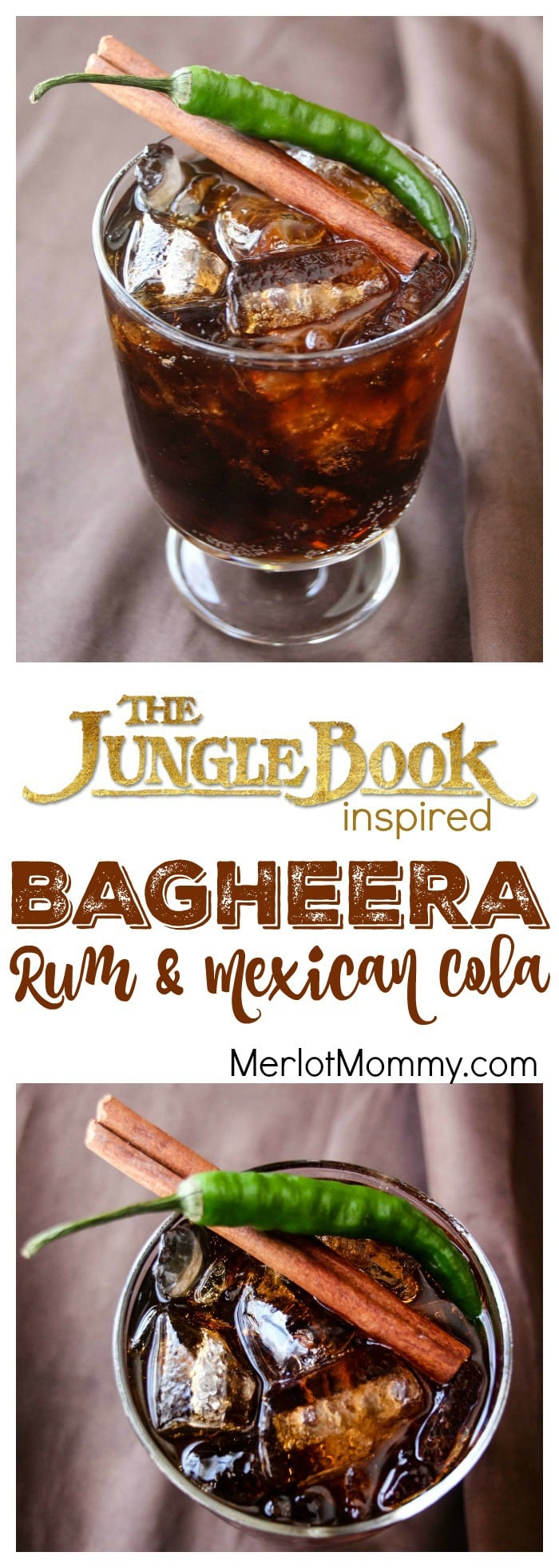 Bagheera Rum & Mexican Cola: Disney Jungle Book-Inspired Cocktail