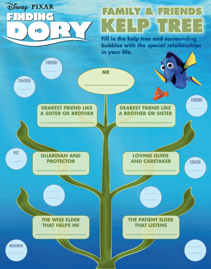 Finding Dory is Now in Theatres + Activity Sheets
