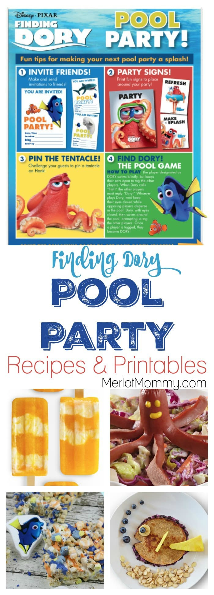 Finding Dory Recipes + Pool Party