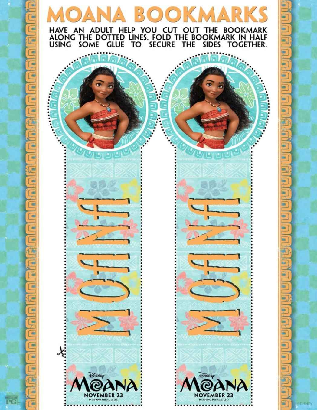 Moana Bookmarks