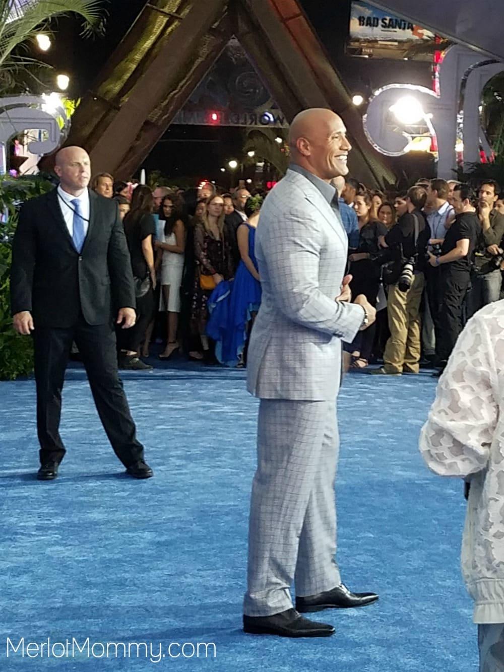 Moana Red Carpet Premiere Experience Dwayne Johnson The Rock