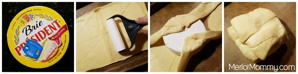 Baked Brie in Puff Pastry Process photos