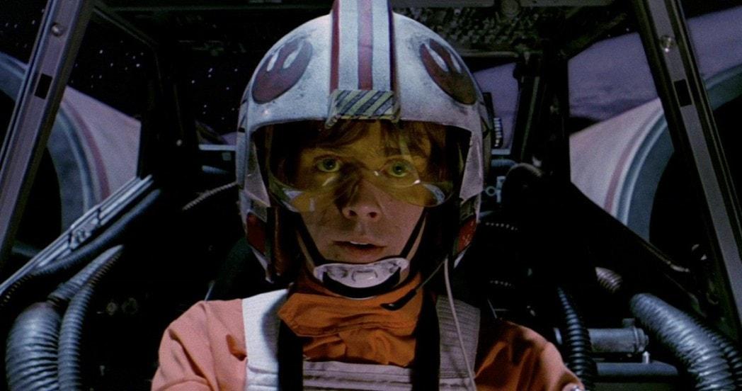 Red Five X-wing pilot Luke Skywalker
