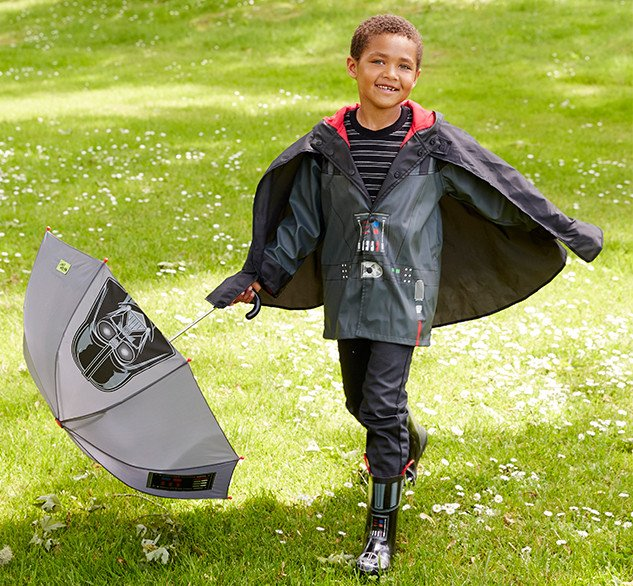 Star Wars Darth Vader Rain Boots and Rain Gear for Kids