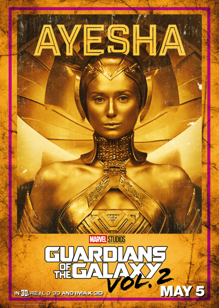 Guardians of the Galaxy Elizabeth Debicki as Ayesha