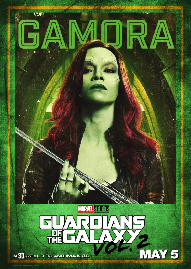 Guardians of the Galaxy Zoe Saldana as Gamora