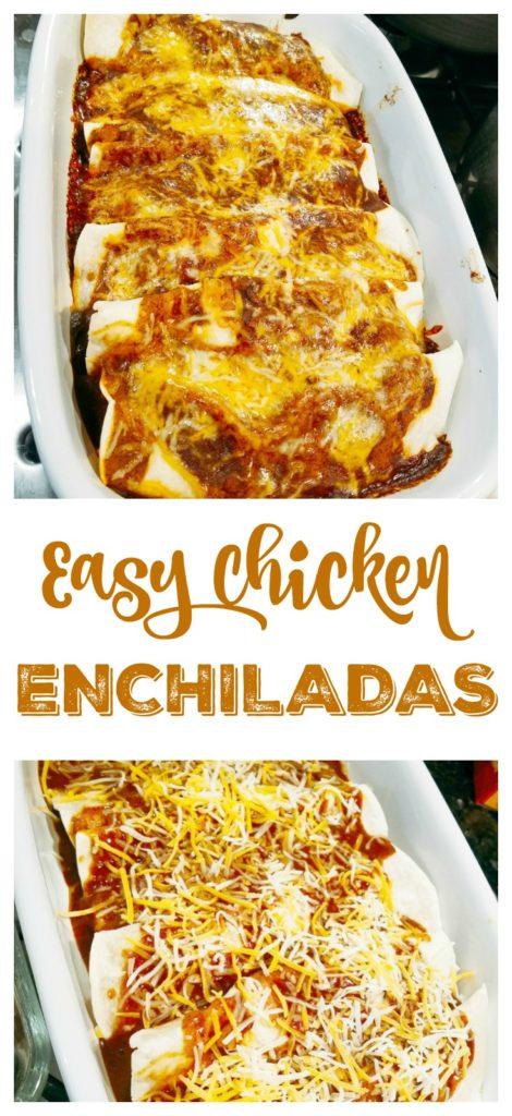 Easy Chicken Enchiladas Pin
