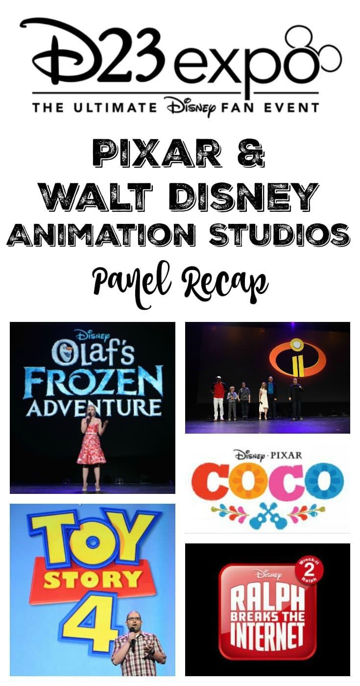 Pixar and Walt Disney Animation Studios Panel Recap