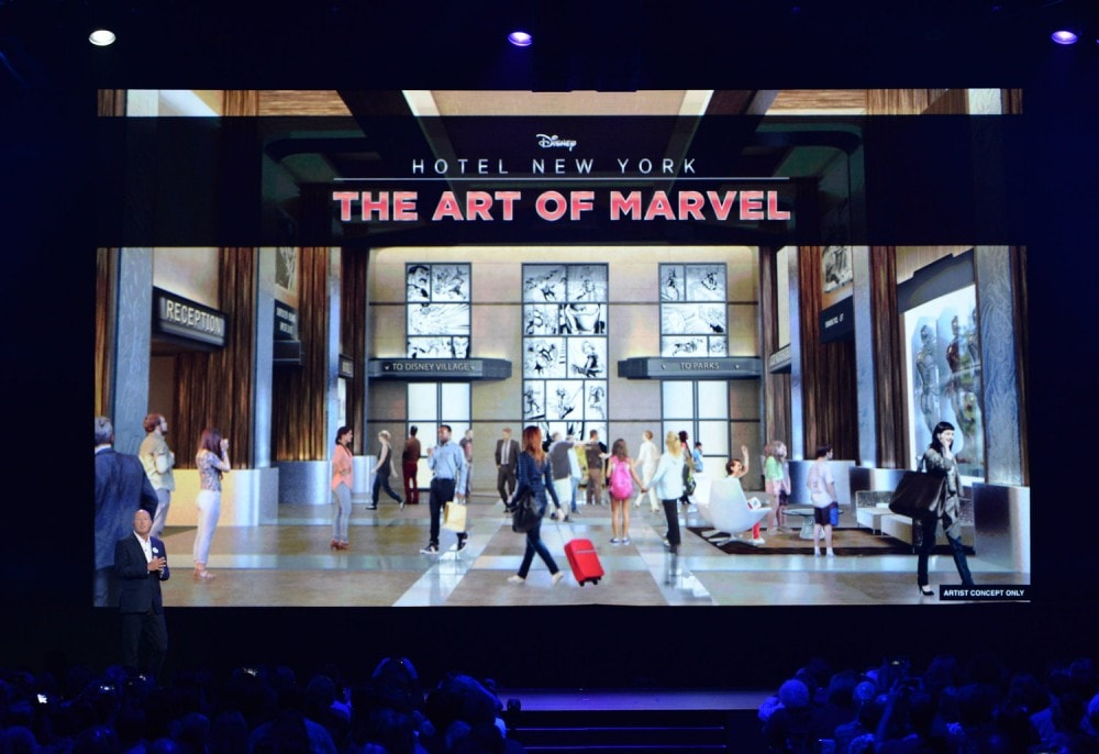 The Future of Walt Disney Parks and Resorts - D23 Expo Recap - The Art of Marvel Hotel Disneyland