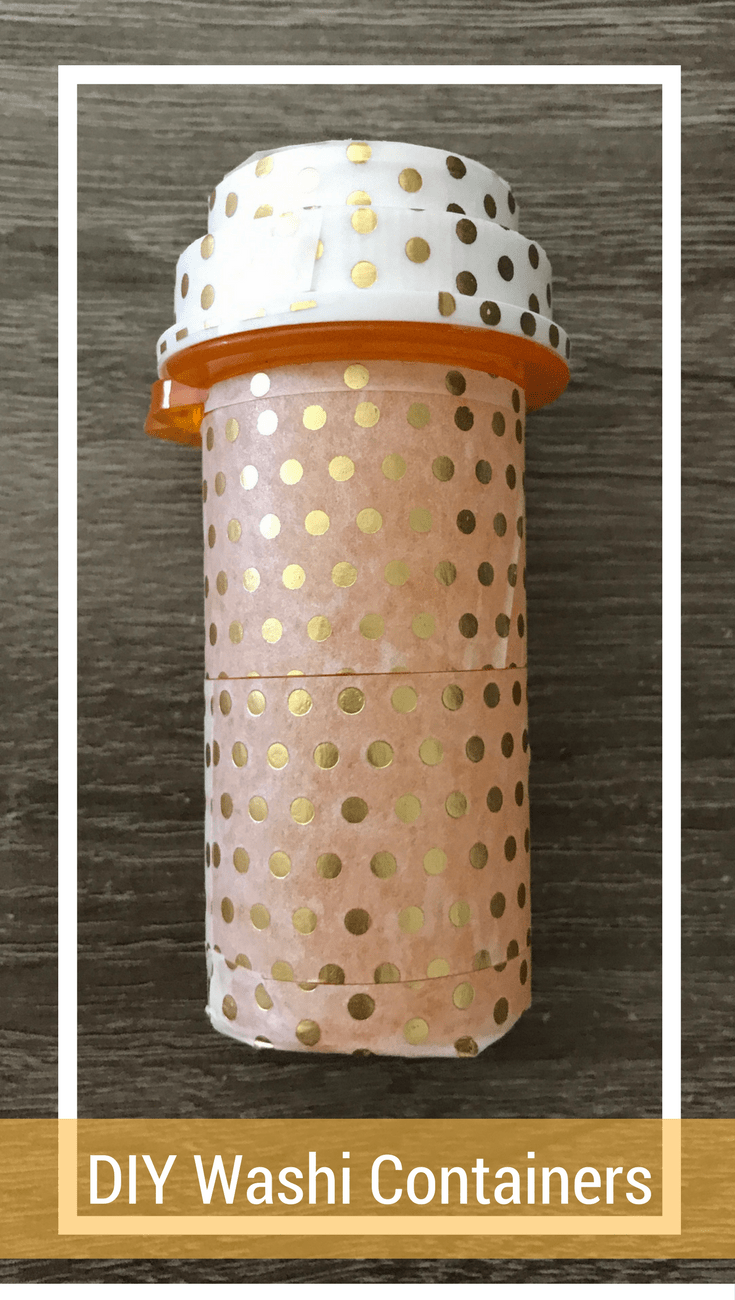 DIY Washi Tape Containers - Easy Tween Project