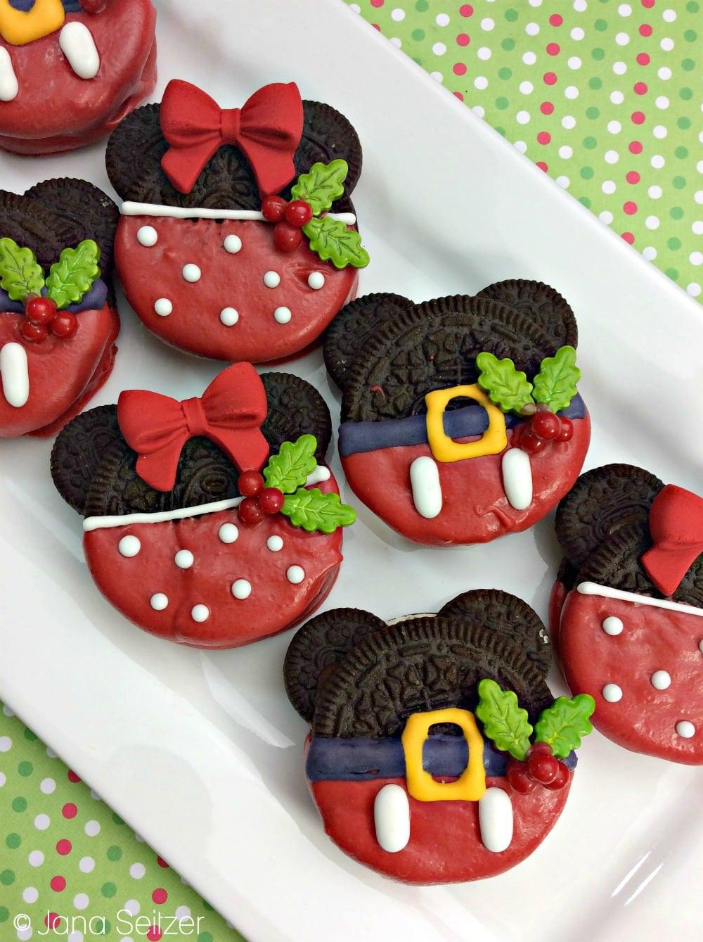 Christmas Mickey Oreos