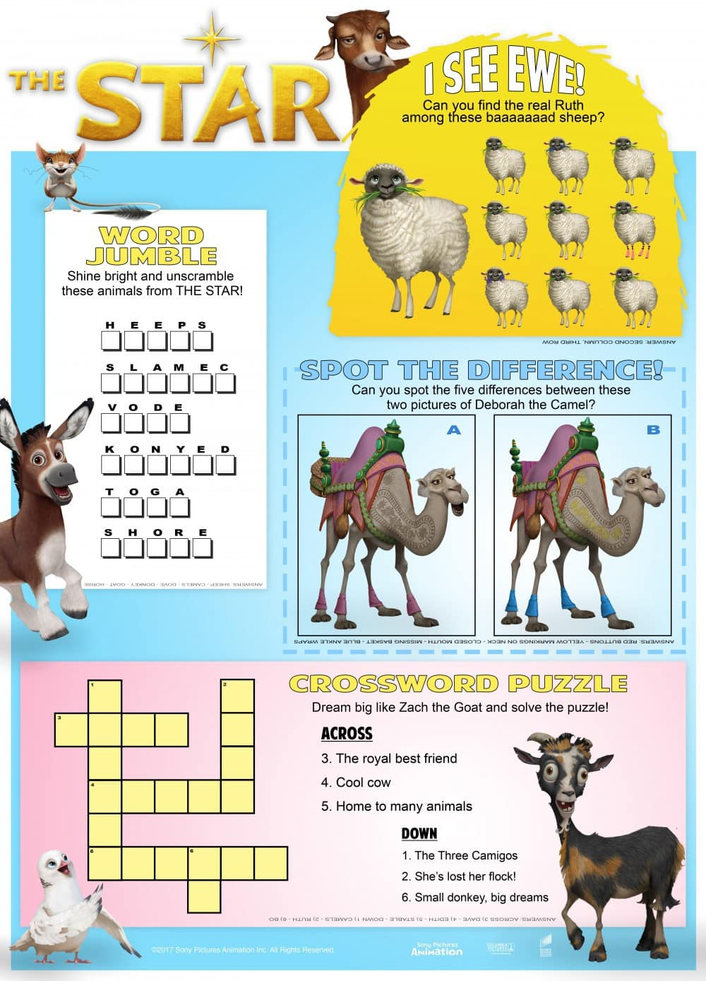 THE STAR Movie + Activity Sheets