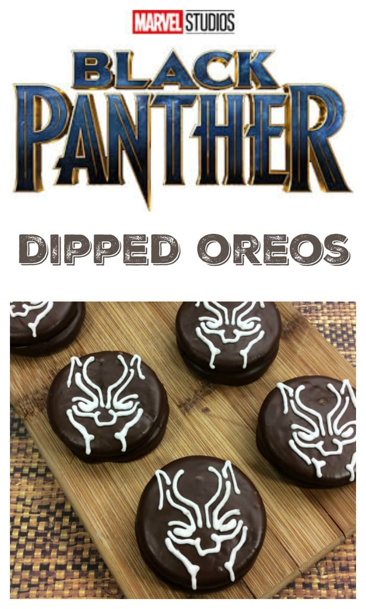 Black Panther Oreos Dipped Cookies