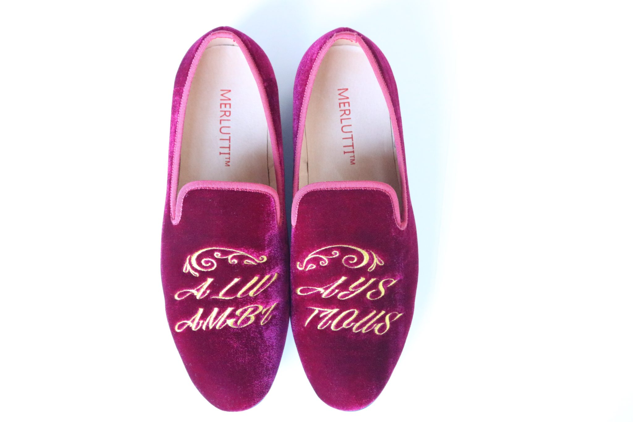 Burgundy Velvet Loafers Always Ambitious