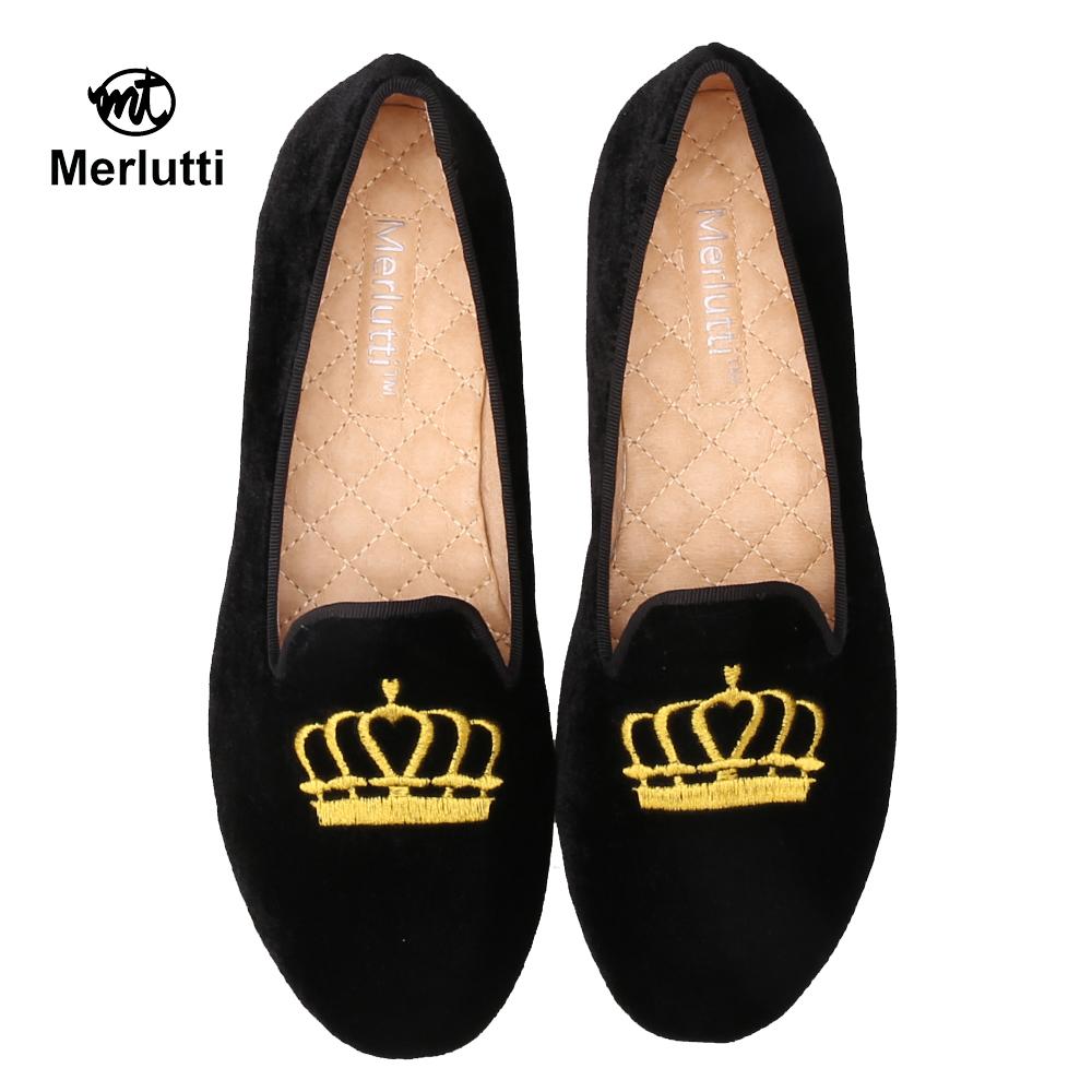 Black Velvet Princess Crown Embroidered