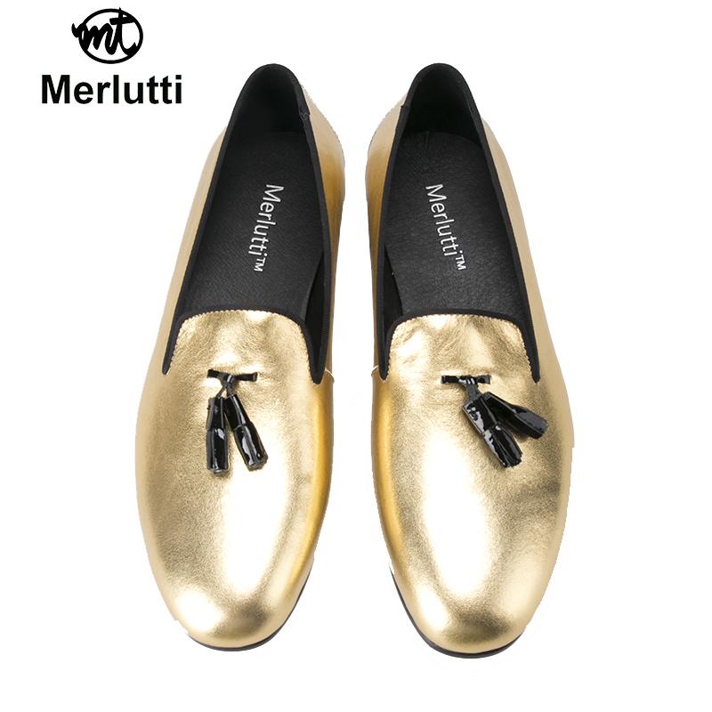 Gold Patent Leather Black Tassel