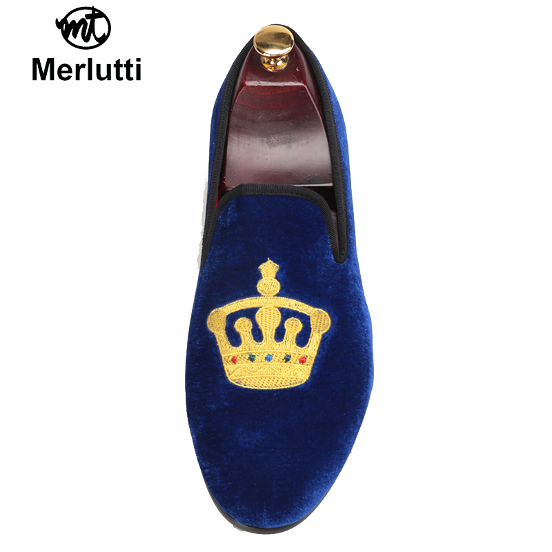 Royal Blue Velvet King's Crown
