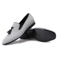 a7e1b5b9872 Black Pompon Grey Casual Loafers