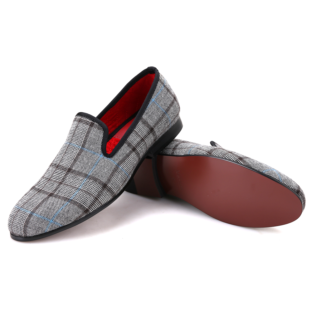 Plaid Grey Micah Casual Loafers