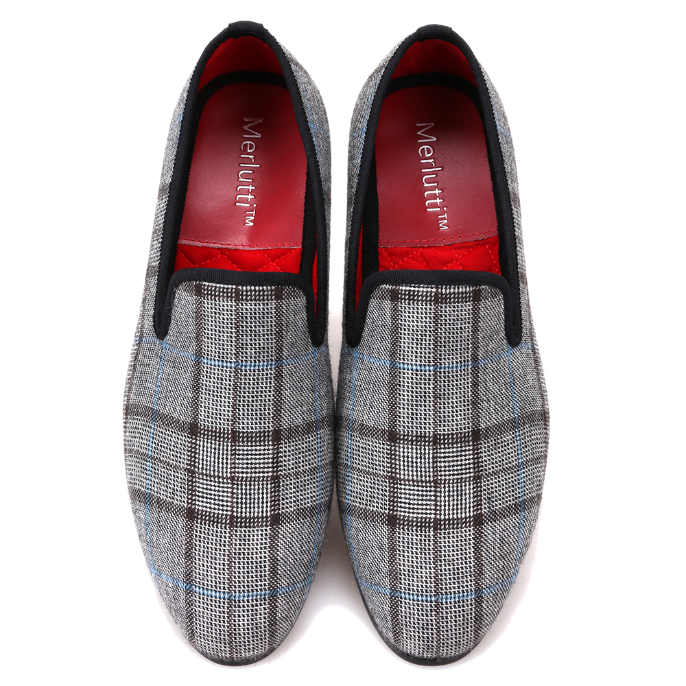 2c02778b58a Plaid Grey Micah Casual Loafers - Merlutti