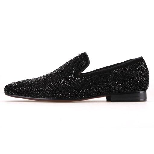 Black Crystal Loafer