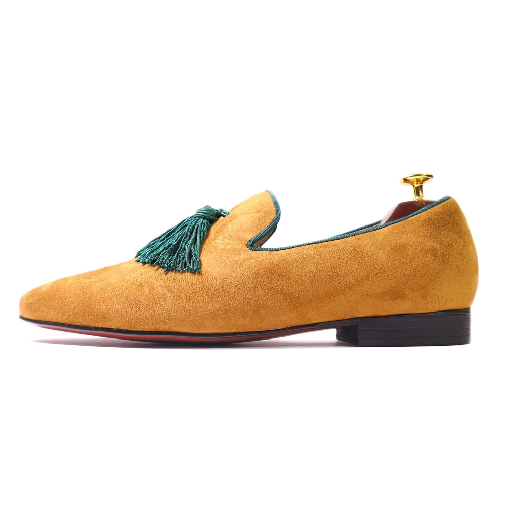 Big Green Tassel Loafers