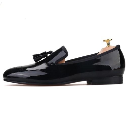 Black Patent Leather black Tassel