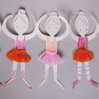 Paper Doll Chain Ballerinas