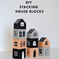 DIY Stacking House Blocks