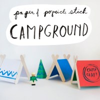 Popsicle Stick Tents