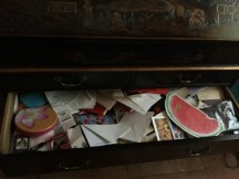 the drawer half empty
