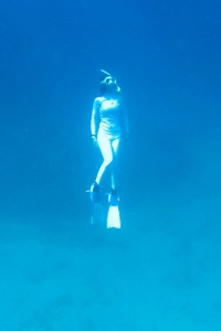 Become a mermaid - Kat as a freediver