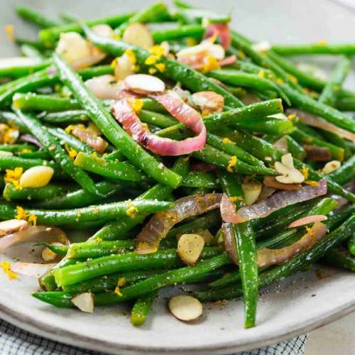 honey green beans with orange peel