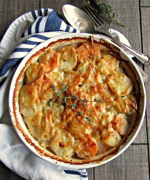 potatoes au gratin tart