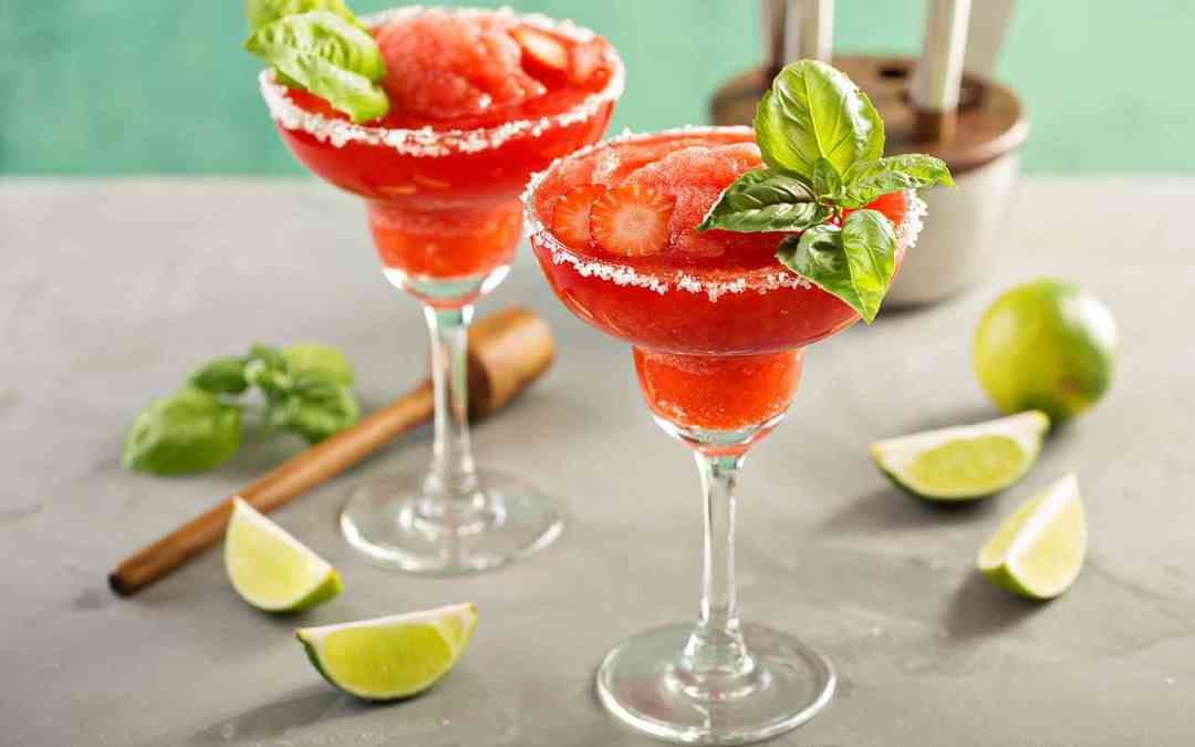 The Perfect Strawberry Basil Margarita Recipe