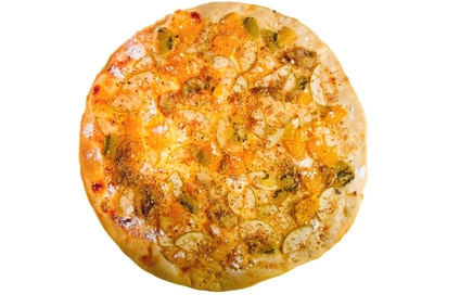 truffle and roasted garlic pizza