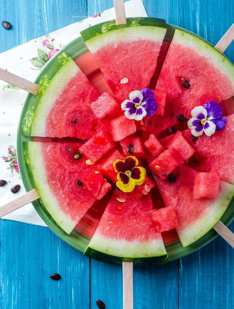 Simple summer Dessert - watermelon on a stick