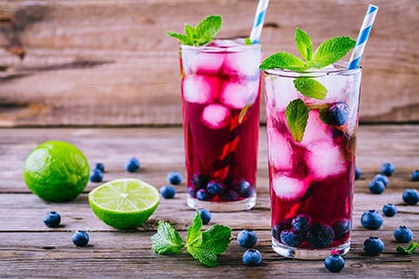 Patriotic Red, White and Blue Mojito via @mermaidsandmojitos